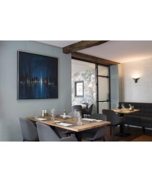 Modloft Sanctuary Dining Chair - Brown Leather
